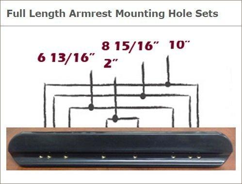 9 Long Invacare Desk Length Armrest Pad Black Base