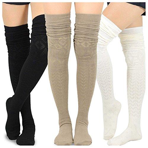 Plant Daddy Womens Knee High Socks Winter Warm Boot Socks Tube Stockings